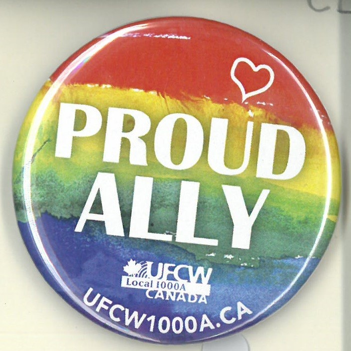 Cover image of Proud Ally. Button.