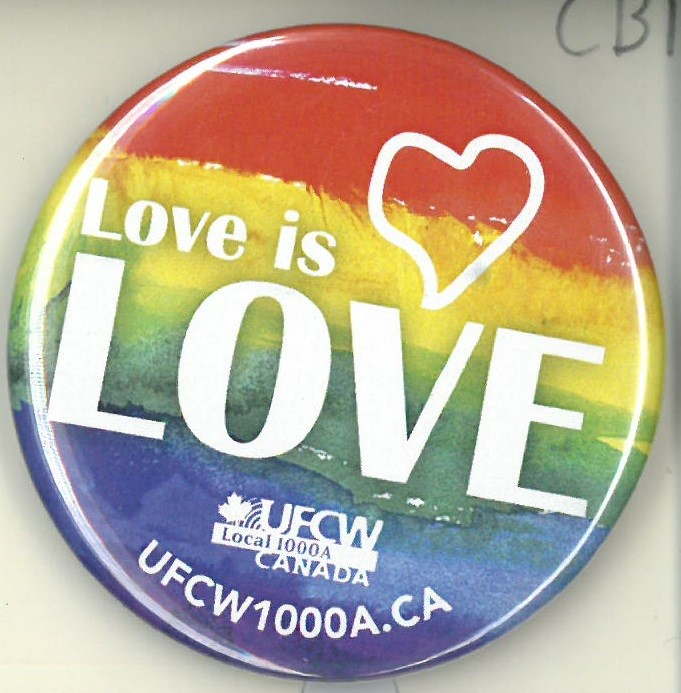 Cover image of Love is Love. Button.
