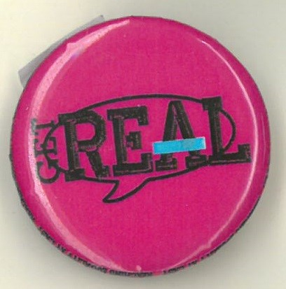 Cover image of Get Real Reaching Equality at Last. Button.
