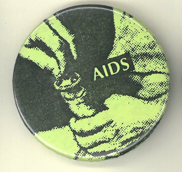 Cover image of AIDS. Button.