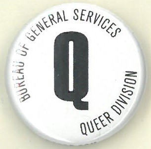 Cover image of Bureau of General Services Queer Division. Button.