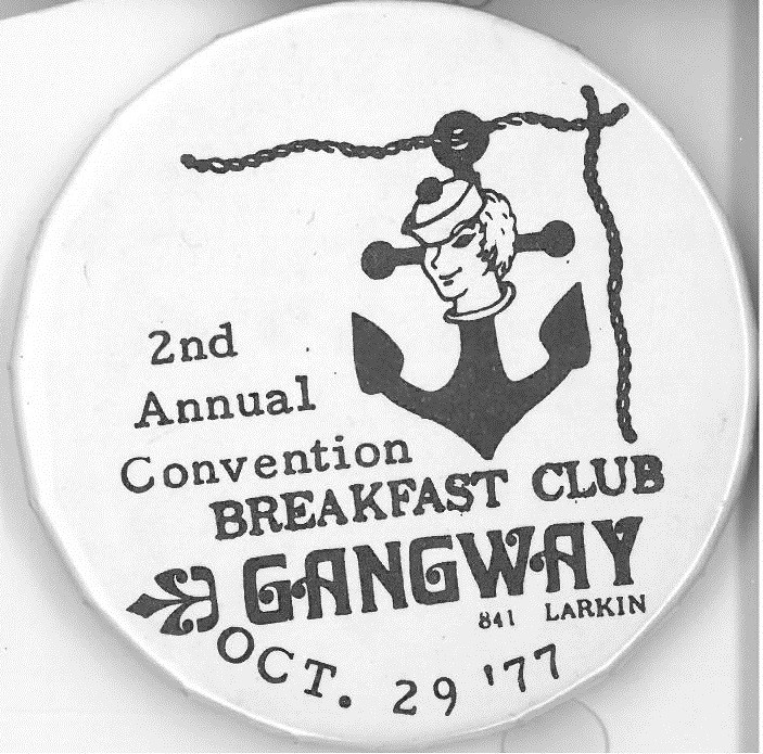 Cover image of Breakfast Club Gangway. Button.