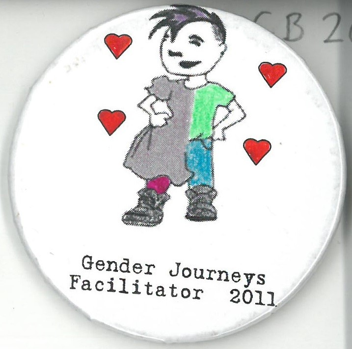 Cover image of Gender Journeys Facilitator 2011. Button.