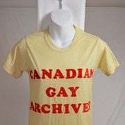 Cover image of Canadian Gay Archives. T Shirt.