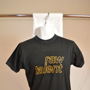 Cover image of Front; Raw Talent: Reverse; DAVE 77. T Shirt.