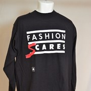 Cover image of Front; Fashion S cares: Reverse; Names of Sponsors. T Shirt.