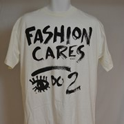 Cover image of Front; Fashion Cares  I Do 2 [Too]: Reverse Sheer Drama. T Shirt.