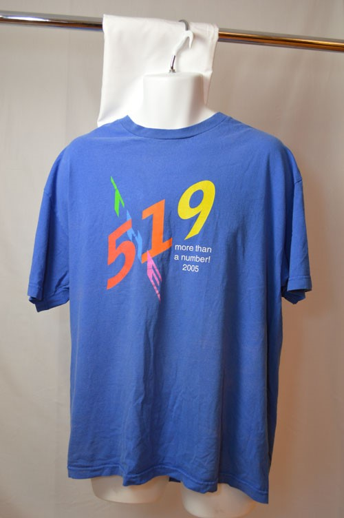 Cover image of Front; 519 More Than a Number! 2005: Reverse; Volunteer. T Shirt.
