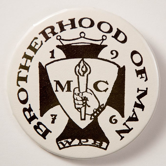 Cover image of Brotherhood of Man 1976 MC. Button.