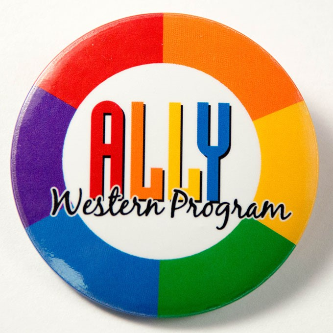 Cover image of ALLY  Western   Program. Button.