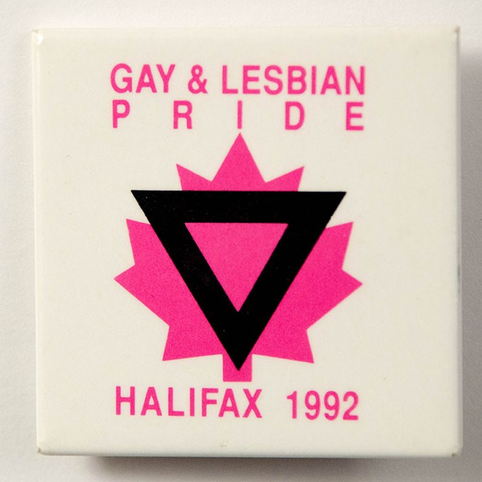 Cover image of Gay & Lesbian Pride: Halifax 1992. Button.