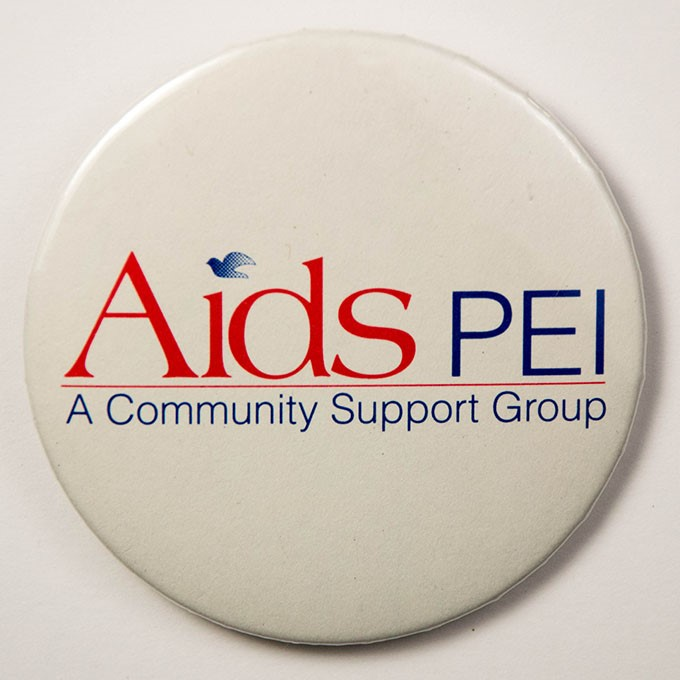 Cover image of AIDS PEI - A community support group. Button.