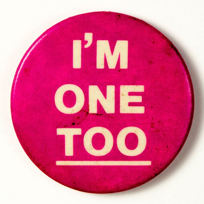 Cover image of I'm one too. Button.